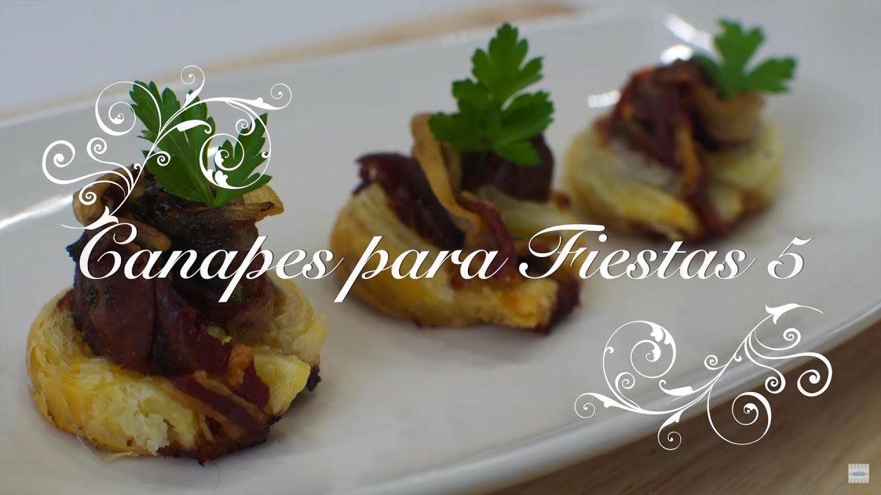 Canapes para fiestas 5 canape de jam n y champi ones for Canape para navidad