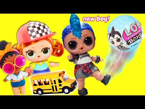 LOL Surprise Dolls Big & Lil Sisters School Day Morning Routine and Learn to Make New School Friends