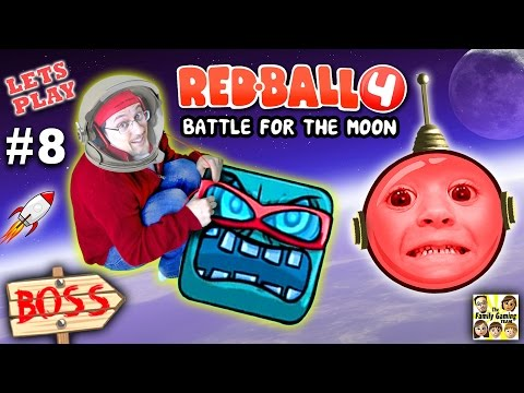 Chase & Dad play REDBALL 4! Battle for the Moon BOSS BATTLE!  Levels 56 - 60 (Part 8 Gameplay)