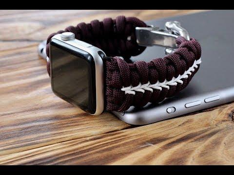 Apple Watch Band, Apple Watch Straps Tutorial. Браслет для часов из паракорда.