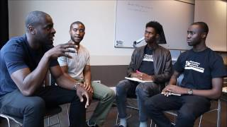 Amos Bursary interview with Andy Ayim and Denis Asamoah