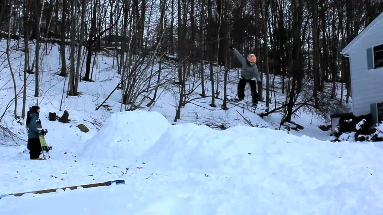 EXTREME Backyard Snowboarding YouTube - Backyard snowboarding