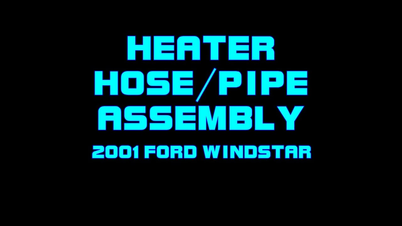 2001 Ford Windstar - Heater Hose embly - Upper Intake Manifold ...  Sel Manifold Intake Air Heater Wiring Diagram on