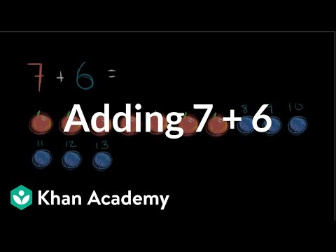 Adding 7 + 6 | Addition And Subtraction Within 20 | Early Math | Khan Academy