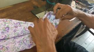 Cara Membuat Pola Dan Menjahit Baju Romper Bayi Bagian 5 MENJAHIT KARET BAN 5