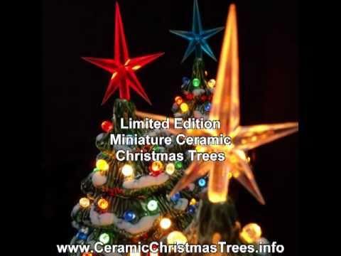 Miniature Ceramic Christmas Trees With Lights
