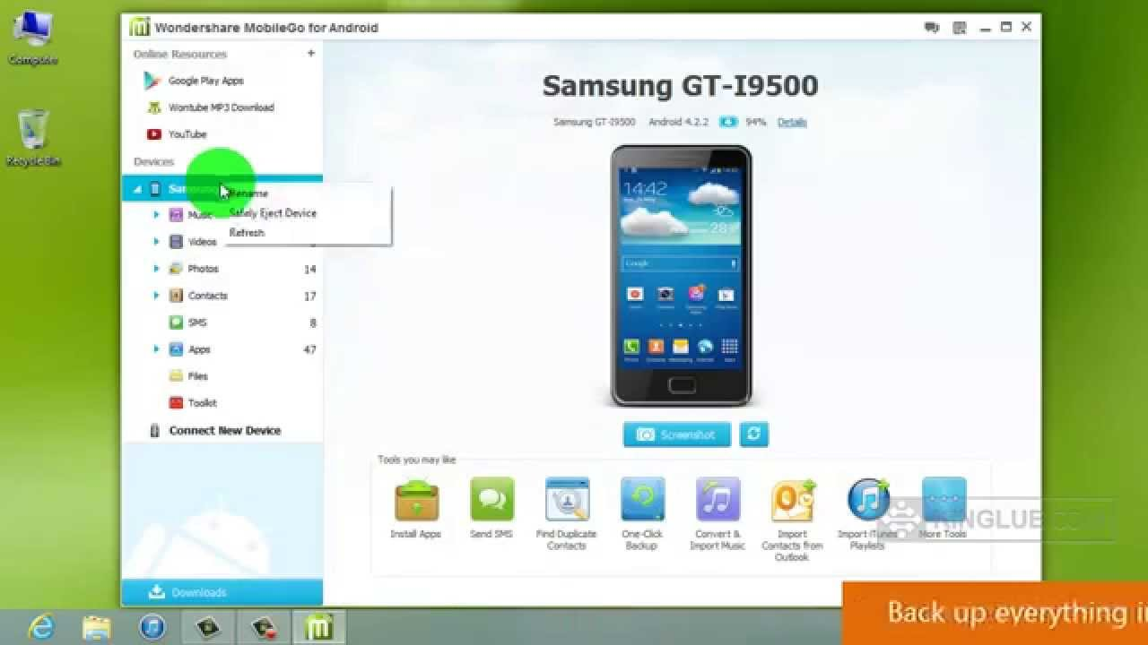 Camera Android Phone Back Up android backup back up your samsung galaxy s4 to pc or restore a stored on pc