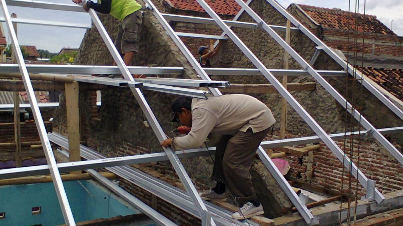 rangka baja ringan untuk atap asbes call081 376 986 067 harga per meter kebumen