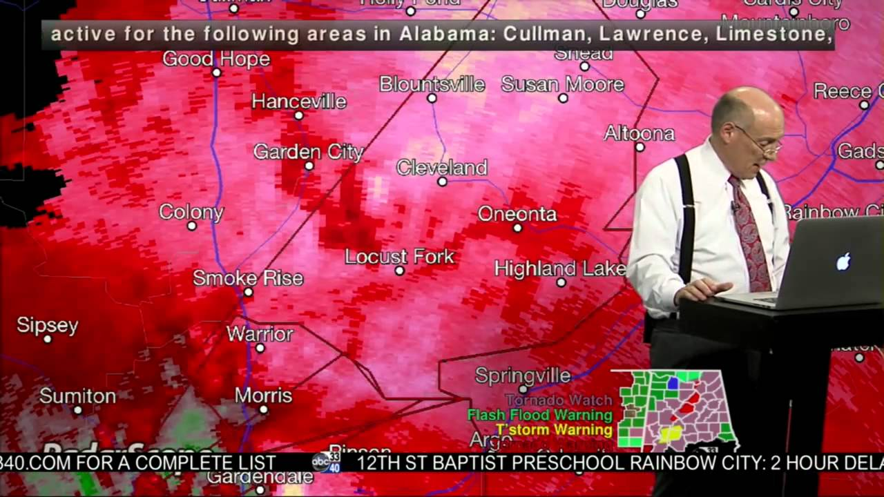 April 28, 2014 Tornado Coverage/ABC 33/40 10:00-11:30 pm