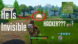 Invisible Enemy Glitch! (Fortnite: Battle Royale)