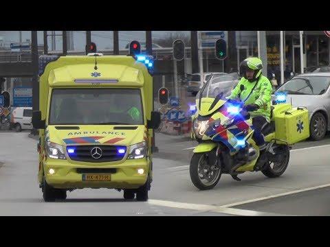 A1, [Motor-] Ambulance 01-122 & 01-321 in Groningen