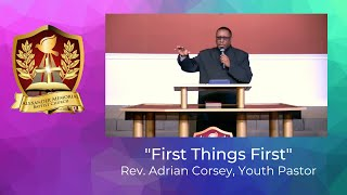 """FIRST THINGS FIRST"" - Rev. Adrian Corsey (12.27.20)"