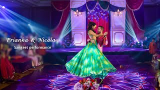 Sangeet performance   Prianka & Nicolas   Sweetheart & Chanda mere chanda