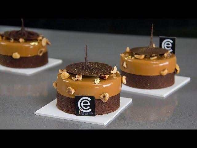 Tartaletas Gianduja Mango y Caramelo / Gianduja Mango & Caramel tarts