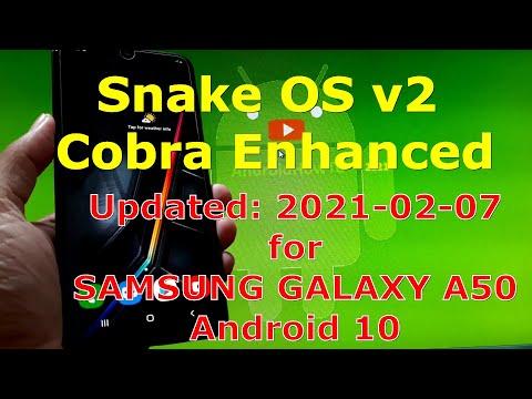 Snake OS v2 Cobra Enhanced for Samsung Galaxy A50 Android 10 Custom ROM