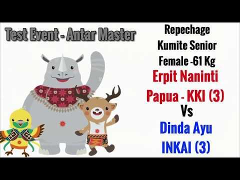 Erpit (Papua-KKI) Vs Dinda Ayu (INKAI) Kejurnas Antar Master 2017