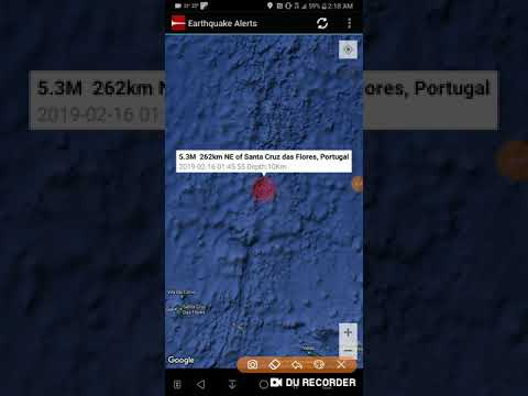 Santa Cruz das Flores, Portugal Earthquake February 16th, 2019 Part 2