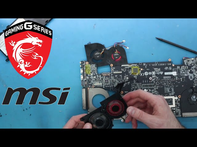 How replace MSI GS65 thin stealth fan rattling - MSi Laptop Repair