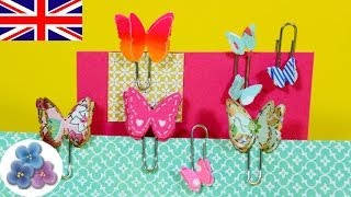 DIY How to Make Butterfly Paper Clips *How to Paperclip* Scrapbook Papercraft Mathie