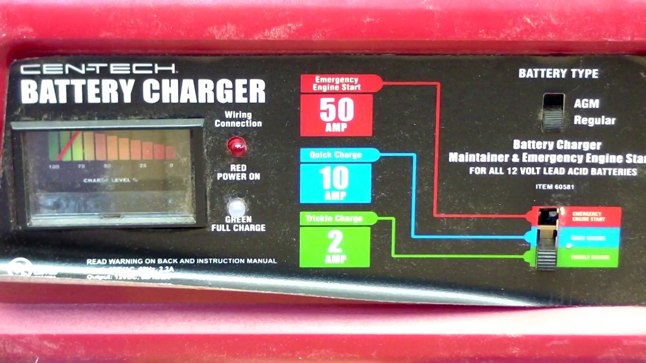 harbor freight 10 2 50 amp battery charger review fail part 2 [ 1280 x 720 Pixel ]