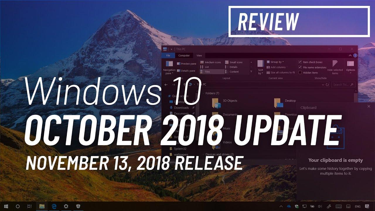 windows 10 october 2018 update download offline
