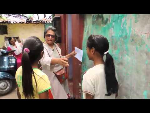 Art with slum children