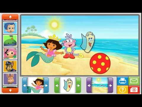 Nick Jr Online Sticker Pictures Game Review With Dora The
