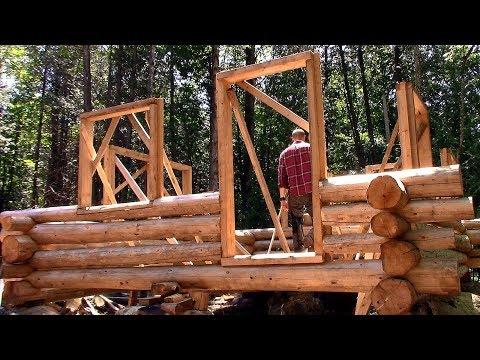 Building Preparations, Log Treatment, Trail Blazing- Log Cabin Update- Ep 10.9