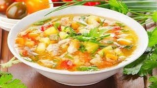 Легкий и вкусный овощной суп - простой рецепт для правильного питания