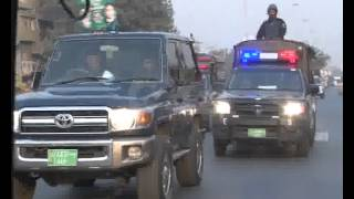 Rangers Police & Elite Force Flag March Due Muharram Security Pkg By Wasim Riaz City42