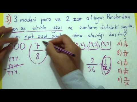 Olasılık Soru Çözümü Şenol Hoca Matematik