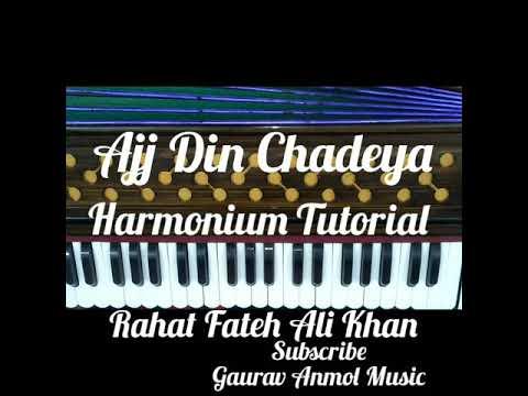 How To Play Ajj Din Chadeya Song On Harmonium // Gaurav Anmol Music // Tutorial // 2019