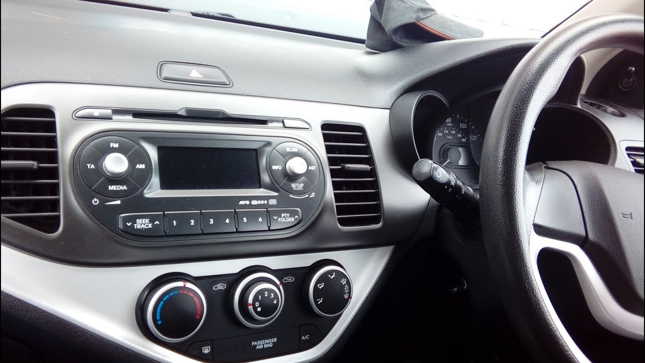 Kia Picanto 2011 onwards radio removal guide + refit + part numbers ...
