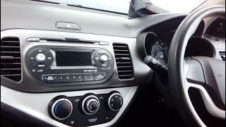 Kit de montage radio DIN Autoradio KIA PICANTO dès 2011 sans Start-Stop