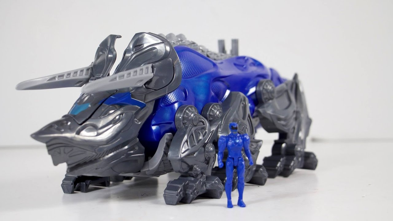 Power Rangers Movie Triceratops Battle Zord with Blue Ranger Figure