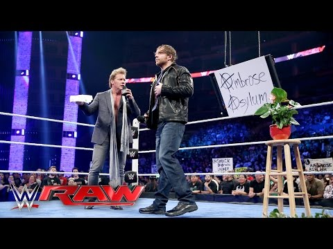 """Jericho's """"The Highlight Reel"""" gets cancelled & replaced by """"The Ambrose Asylum"""": Raw, Apr. 11, 2016"""