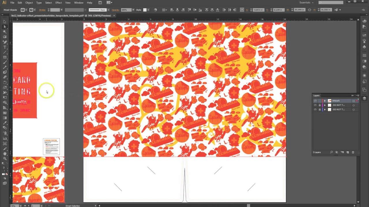 how to set up a presentation folder in adobe illustrator, Presentation templates