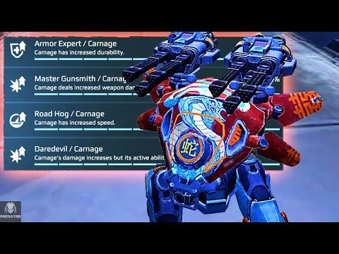 Building The Daredevil Carnage With Major Skill Upgrades - Destruction | War Robots