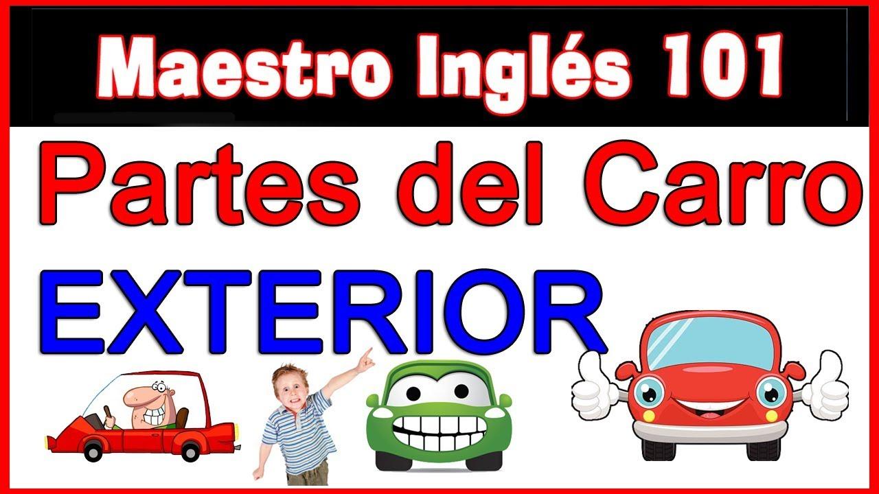 Partes del carro en inglés británico