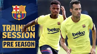 BUSQUETS and ANSU are back in TRAINING!