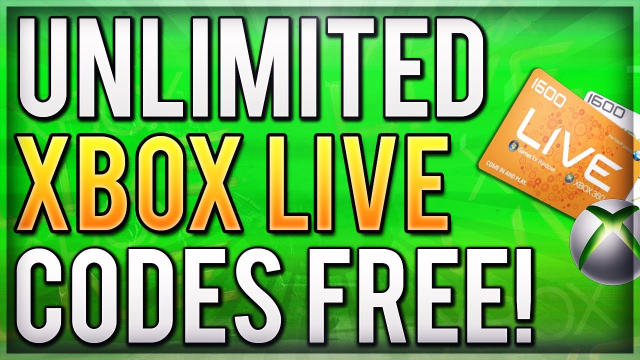 New Unlimited Xbox Live Method How To Get Unlimited Gold Week Trial Codes Free Xbox Live Gold