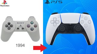 PlayStation Controller Evolution PS1-PS5