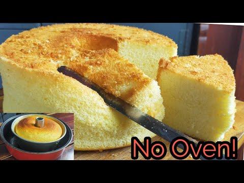 No Oven Chiffon Cake