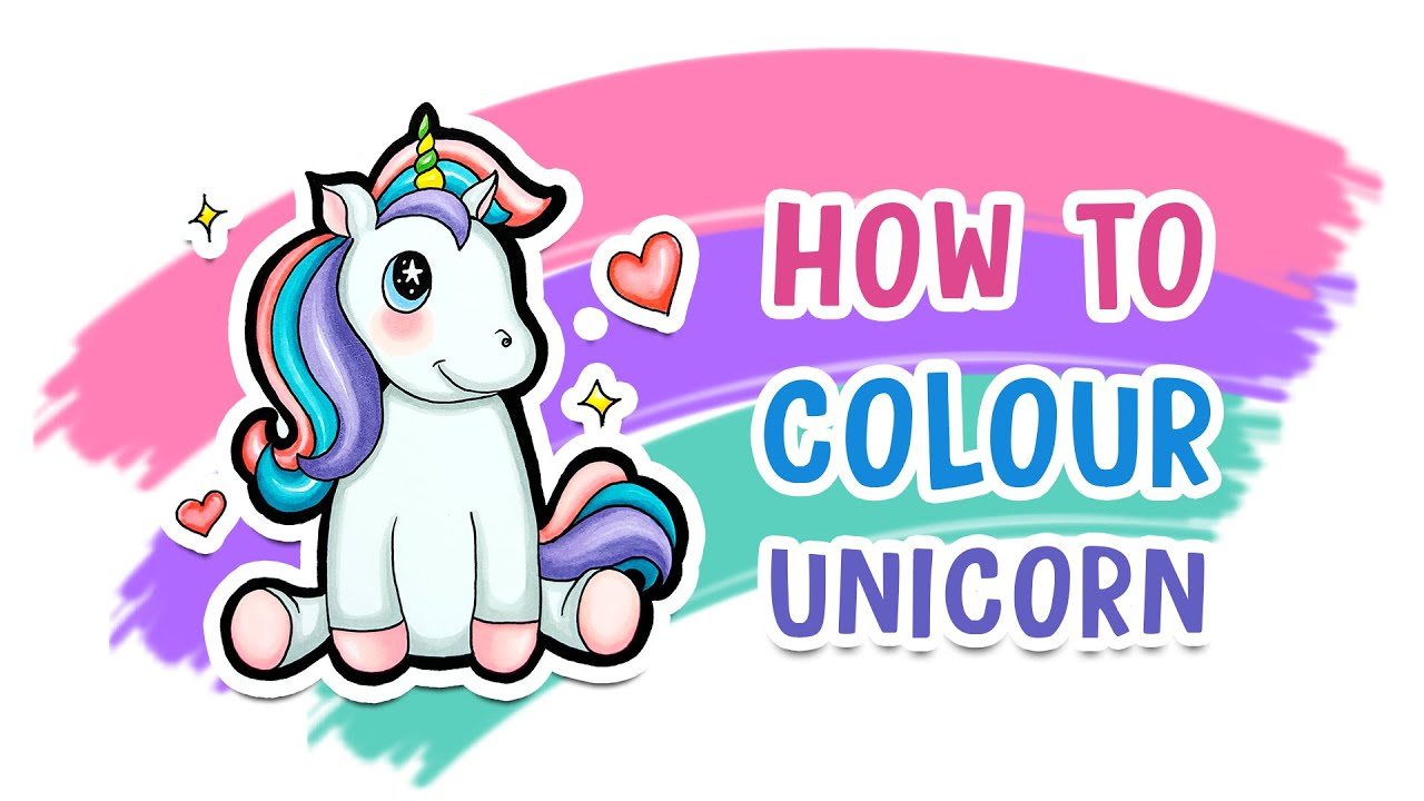 how to draw a unicorn step by step - pony unicorn coloring [2021]