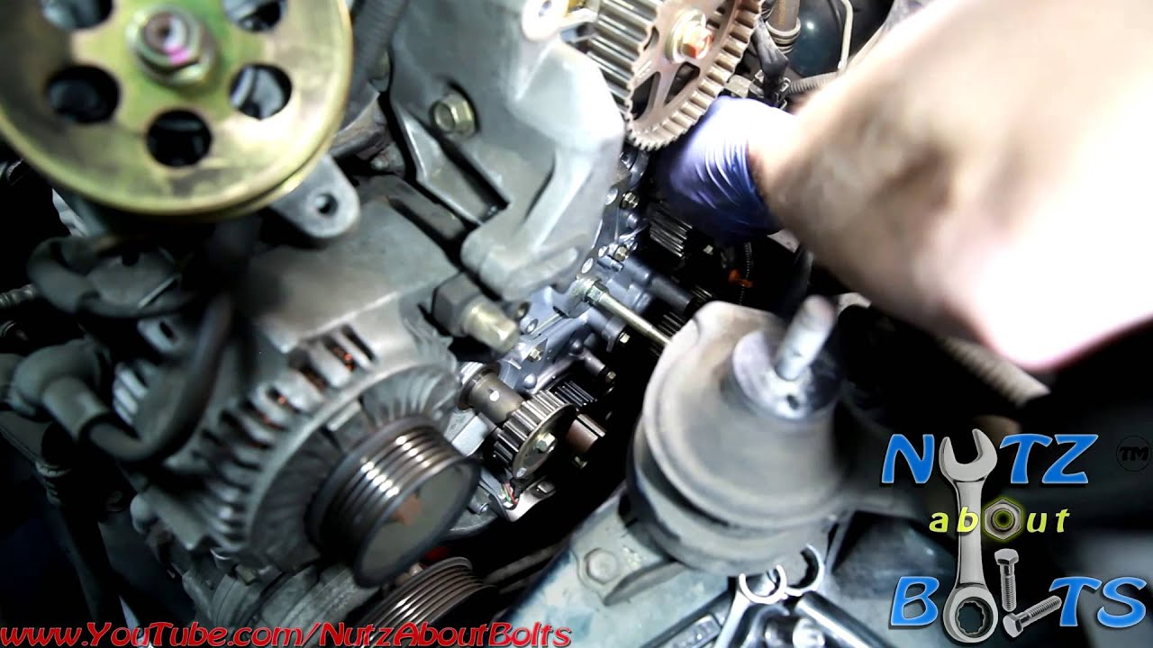 19982002 Honda Accord Timing belt replacement with water