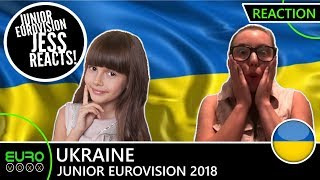UKRAINE: Darina Krasnovetska - 'Say Love' (REACTION)   Junior Eurovision 2018