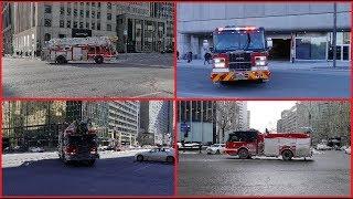 FIRE TRUCKS RESPONDING - MONTREAL FIRE DEPARTMENT - SERVICE SÉCURITÉ INCENDIE MONTRÉAL / 10X GOLD