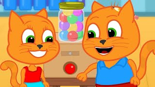 Cats Family in English  Homemade Gumball Machine Video Animation