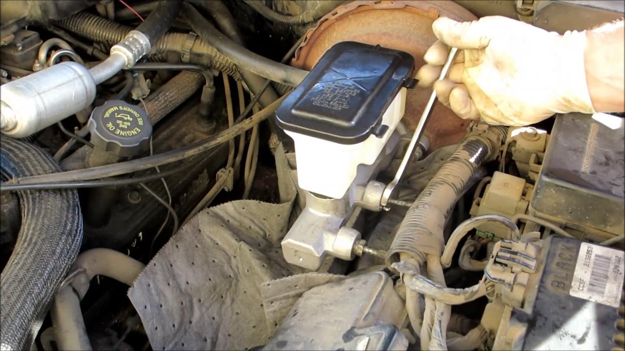 Tahoe brake master cylinder replace  YouTube