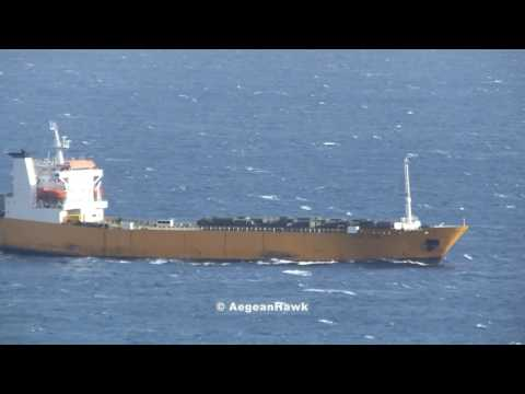 Russian RoRo Alexandr Tkachenko first trip to Syria for 2017 with military trucks.